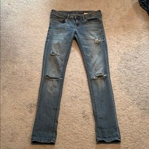 H&M Distressed Skinny Jeans size 28